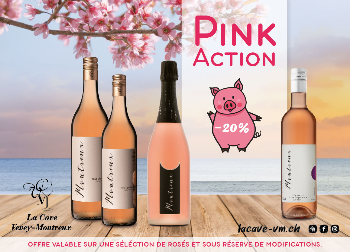 Promotion sur les vins rosés sélectionnés (-20%)